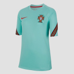 Nike uefa euro 2020 fpf portugal breathe strike trainingsshirt 20/22 groen kinderen