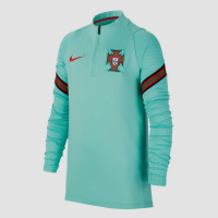 Nike uefa euro 2020 fpf portugal dri-fit strike drill trainingstop 20/22 groen kinderen