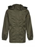 ONLY Canvas Parka Dames Green
