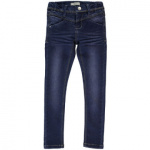 name it Girls Jeans Sus dark blue denim slim - Blauw - Gr.Kindermode (2 - 6 jaar) - Meisjes