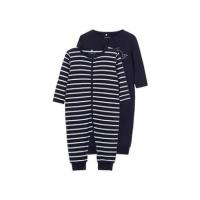NAME IT 2-pack Rits Pyjama Heren Blauw