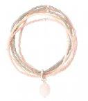 Armband A Beautiful Story Nirmala Rose Quartz Silver Bracelet