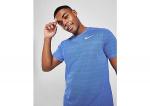 Nike dri-fit miler hardloopshirt blauw heren