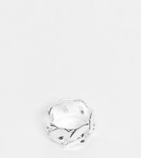 ASOS DESIGN Curve - Ring met schakels in zilverkleur