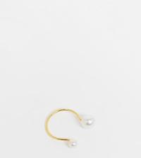 ASOS DESIGN - Vergulde ring van sterling zilver met design van parels met kleurverloop-Goud