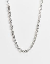 DesignB London - Exclusives - Choker-ketting met schakels in zilverkleur