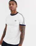 T-shirt Korte Mouw Fred Perry TAPED RINGER T-SHIRT