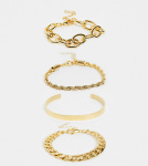 Image Gang - Multipack met gemengde schakelarmbanden in verguld goud