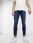 Jack & Jones - Intelligence - Skinny-fit jeans in blauwe wassing-Zwart