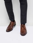 Jack & Jones - Premium - Leren Derby schoenen in bruin