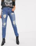 JDY - Jazz - Boyfriend jeans met scheuren-Blauw