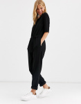 ONLY Solid Colored Jumpsuit Dames Zwart