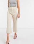 High-waist culotte jeans