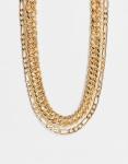 Pieces - Ketting met schakels in verschillende maten in goud