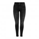 ONLY Onlblush Mid Ankle Skinny Jeans Dames Zwart