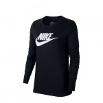 Nike Essential Futura Long Sleeve T-Shirt Dames - Black/White - Dames