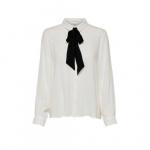 ONLY Strik Overhemd Met Lange Mouwen Dames White