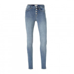 ONLY Onlblush High Waist Knoop Skinny Jeans Dames Blauw