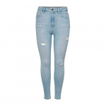 ONLY Onlgosh Life Hw Ankle Skinny Jeans Dames Blauw