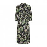 SELECTED Botanische Print Midi Jurk Dames Green