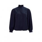 VILA blouse visimple met ruches blauw