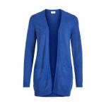 VILA Basic Gebreid Vest Dames Blauw