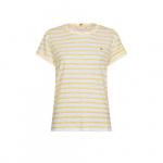 Tommy Hilfiger - Gestreept T-shirt met ronde hals in geel