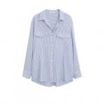 Mango gestreepte blouse blauw/wit