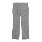 Violeta by Mango straight fit pantalon met pied-de-poule zwart/wit