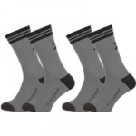 Muchachomalo 2-pack solid socks long grijs