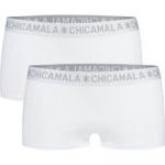 Muchachomalo Women 2-pack boxershort solid wit
