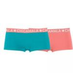 Muchachomalo Women 2-pack boxershort solid blauw
