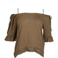 Only T-shirt 15176660 onlrina khaki