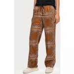 Scotch & Soda Amsterdams Blauw 154186 drapy wide legged pant with allover print bruin