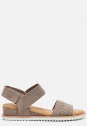 Skechers Desert Kiss sandalen taupe