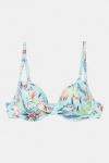 ESPRIT Women Beach beugel bikinitop voorgevormd in all over print turquoise