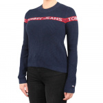 Tommy Jeans trui donkerblauw/rood