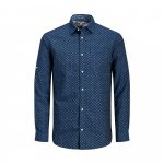 JACK & JONES Linnen Overhemd Heren Blauw