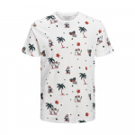 JACK & JONES Santa Print T-shirt Heren White