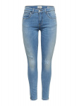 ONLY Kendell Reg Ankle Zip Skinny Jeans Dames Blauw