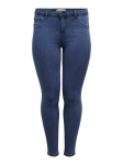 ONLY Curvy Thunder Push Up Reg Skinny Jeans Dames Blauw