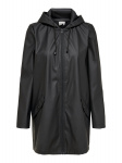 ONLY Solid Colored Rain Jacket Dames Zwart