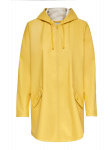 ONLY Solid Colored Rain Jacket Dames Geel