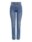 ONLY Onlnahla Life Hw Straight Fit Jeans Dames Blauw