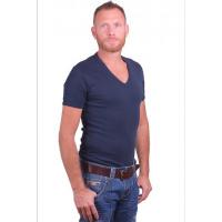 Garage T-Shirt Deep V-Neck Semi bodyfit Navy ( art 0304)