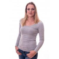 Claesens Women T-shirt o-neck longsleeve Light Grey ( 8016)