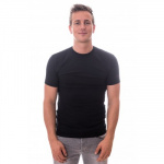Claesens T-Shirt Round Neck Black Stretch Two Pack ( CL 1021)