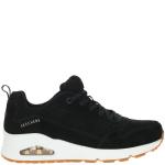 Skechers Uno Two For The Show Sneaker Dames Zwart