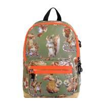 Pick & Pack Cute Squirell Backpack M dusty green Laptoprugzak